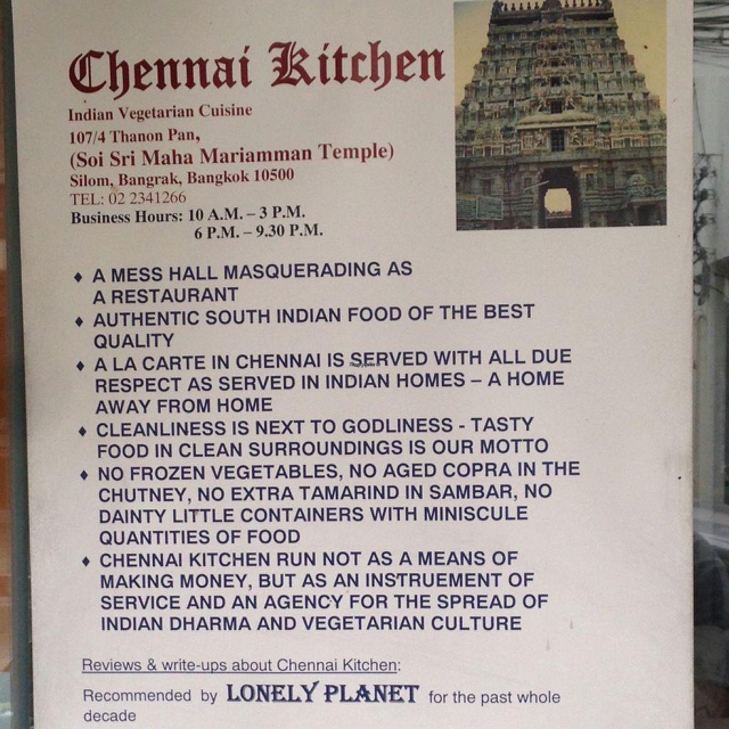 Info chennai kitchen at chennai kitchen in bangkok