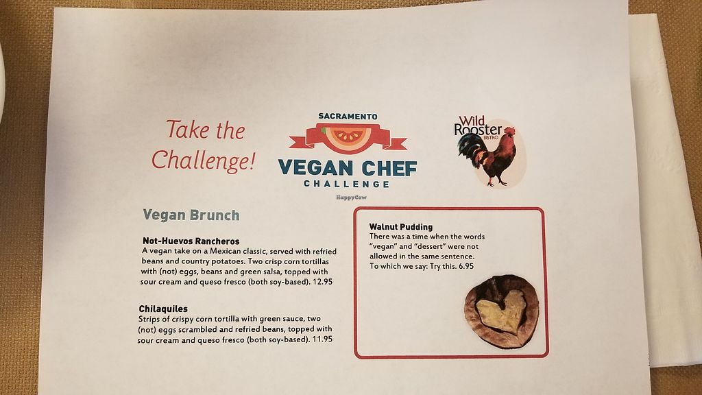 VEGAN OPTIONS AT ROOSTERS