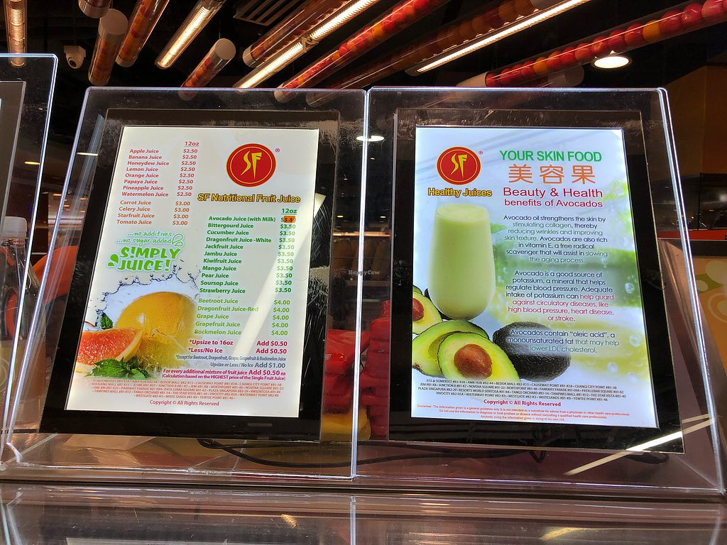 SF Fruits & Juices - Causeway Point - North Singapore Juice