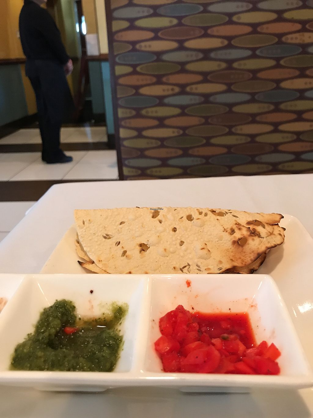 Vegan Bread Offered When You Are Seated At Milan Indian Cuisine In Charlottesville