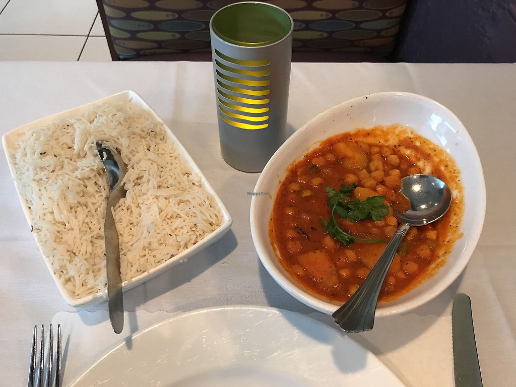 Vegan Channa Masala At Milan Indian Cuisine In Charlottesville