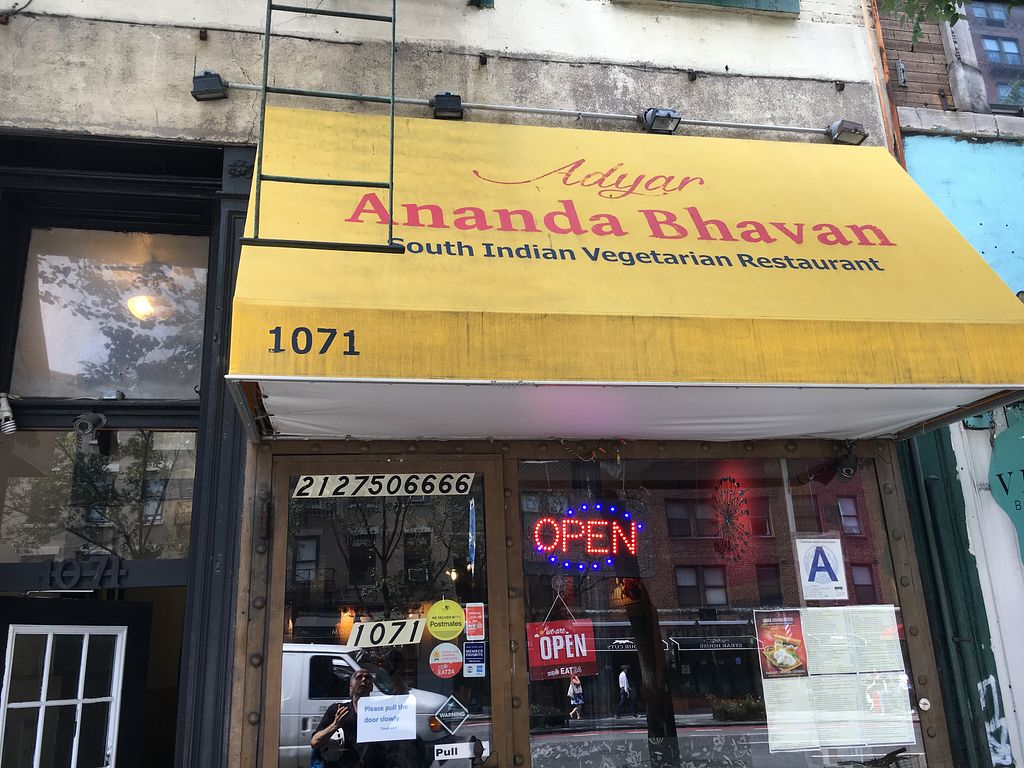 Andyar Ananda Bhavan New York City New York Restaurant