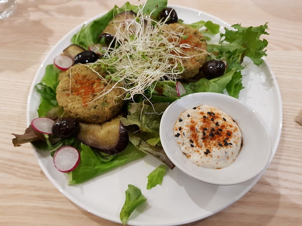Eggplant latcakes at Bhajan Cafe in Nice