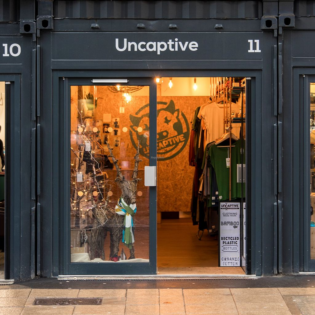 916a0897bc65 Uncaptive Ethical Clothing Co shop front at Stack Newcastle at Uncaptive in  Newcastle Upon Tyne