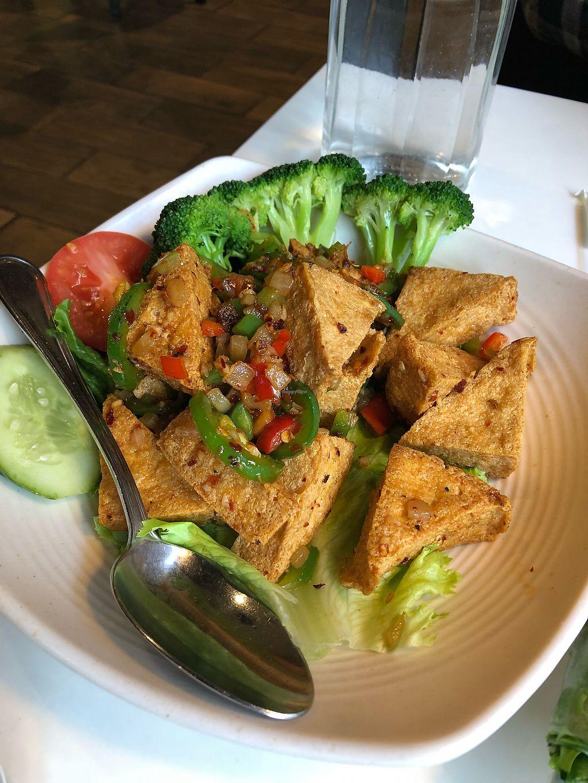 Jalapeño Tofu At Golden Era Vegan Restaurant In San Francisco