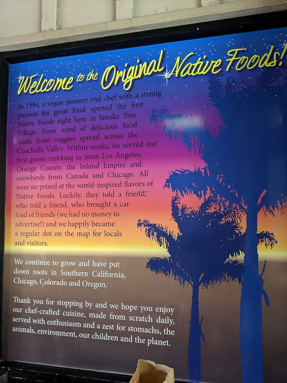 Native Foods - Palm Springs California Restaurant - HappyCow