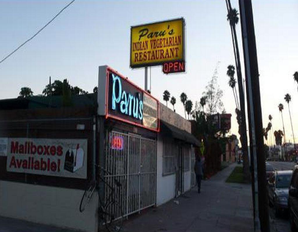 Closed Paru S Vegetarian Indian Restaurant Los Angeles