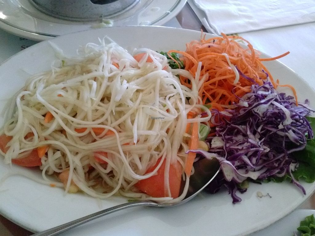 Papaya Salad At Wheel Of Life In Irvine