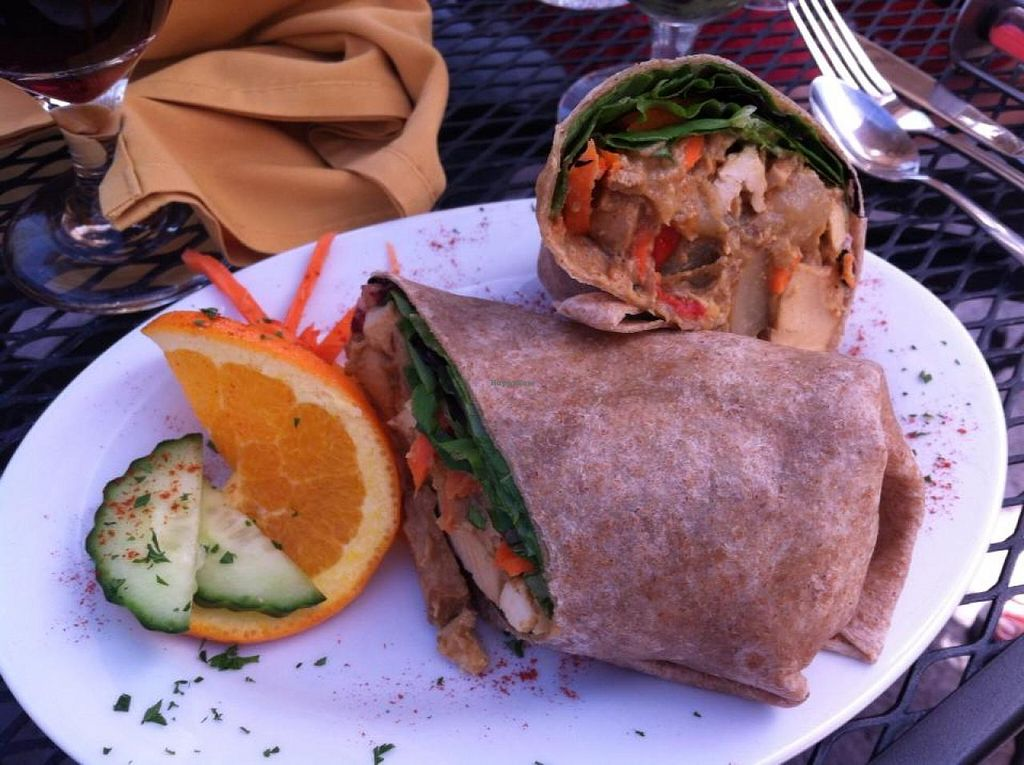 Curry Wrap At Shangri La Tea Room And Vegetarian Restaurant In Boise