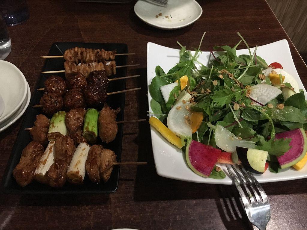 Vegan meal at Aju