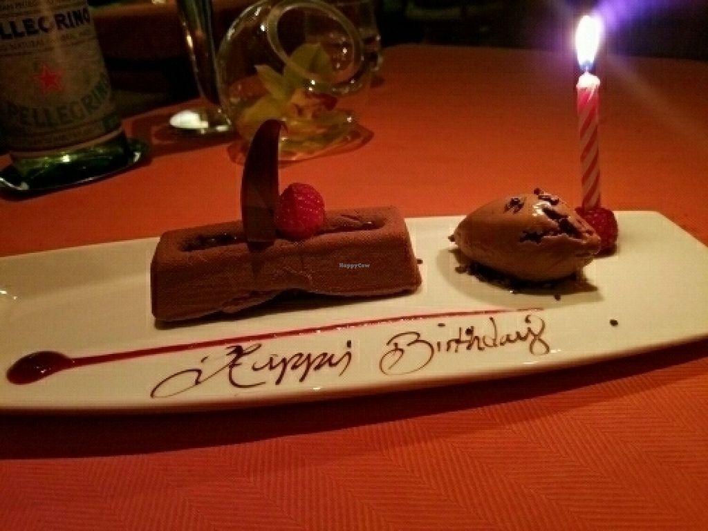 Vegan Chocolate Lava Cake At Wynn Hotel
