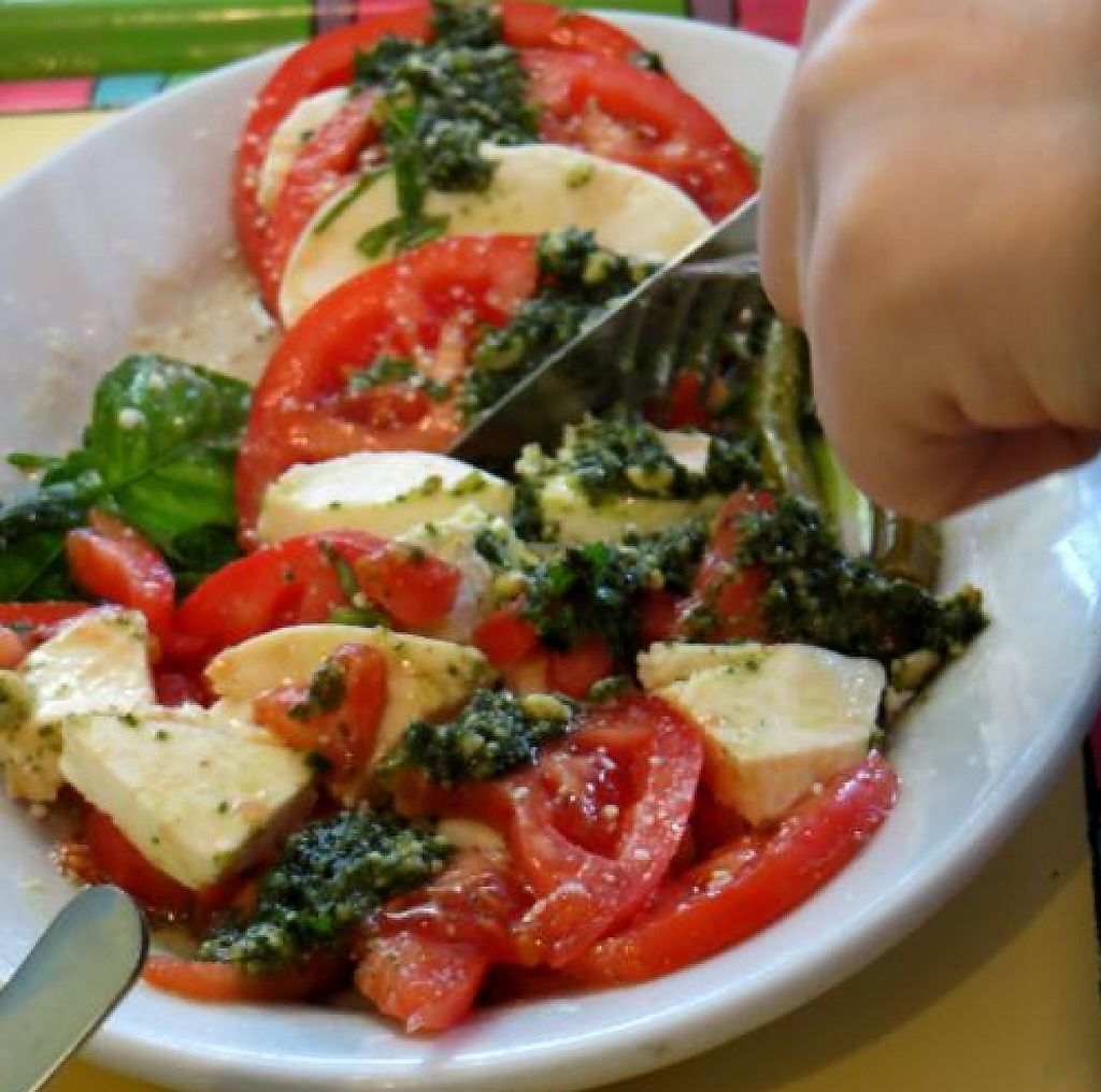 Tomato Mozzarella Salad W Basil At Malia S Cafe In Ocean City