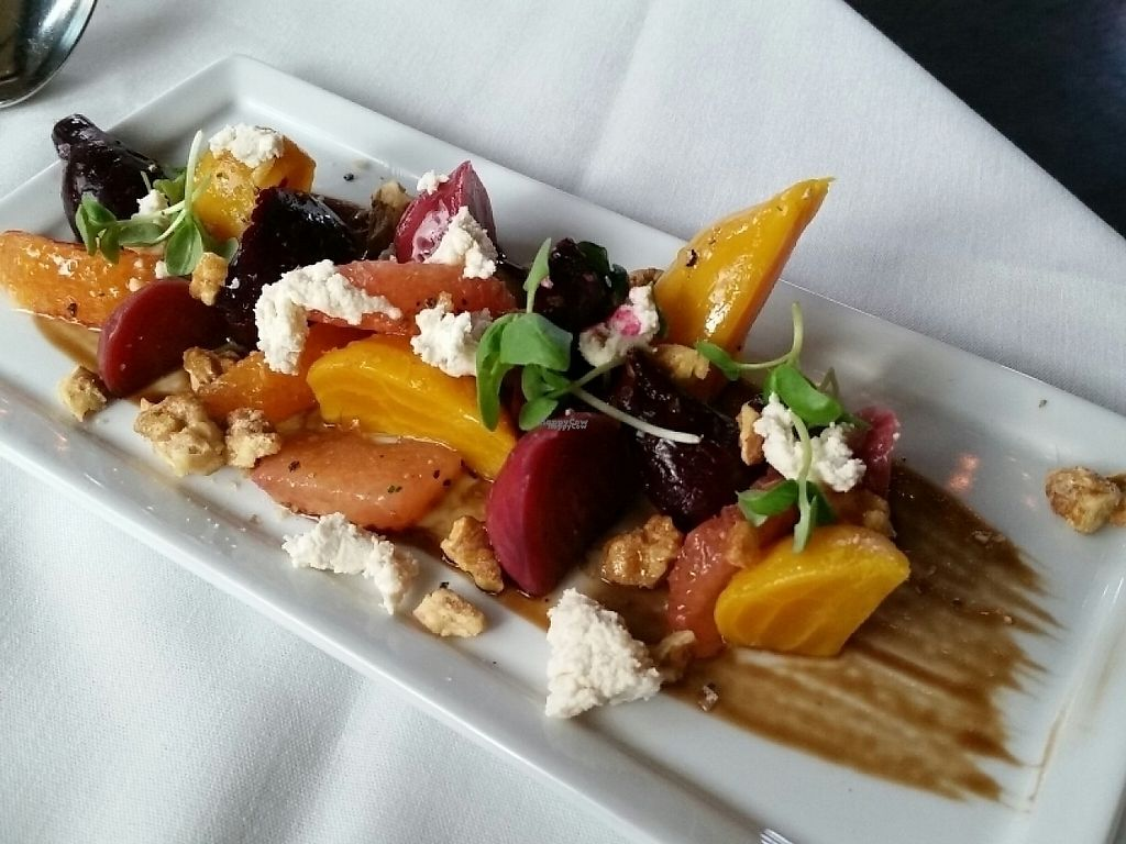 Baby beet salad at crossroads kitchen in los angeles