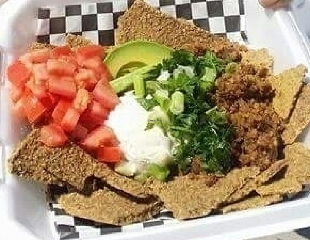 Raw Vegan Nachos At The Traveling Carrot Food Trailer In Katy