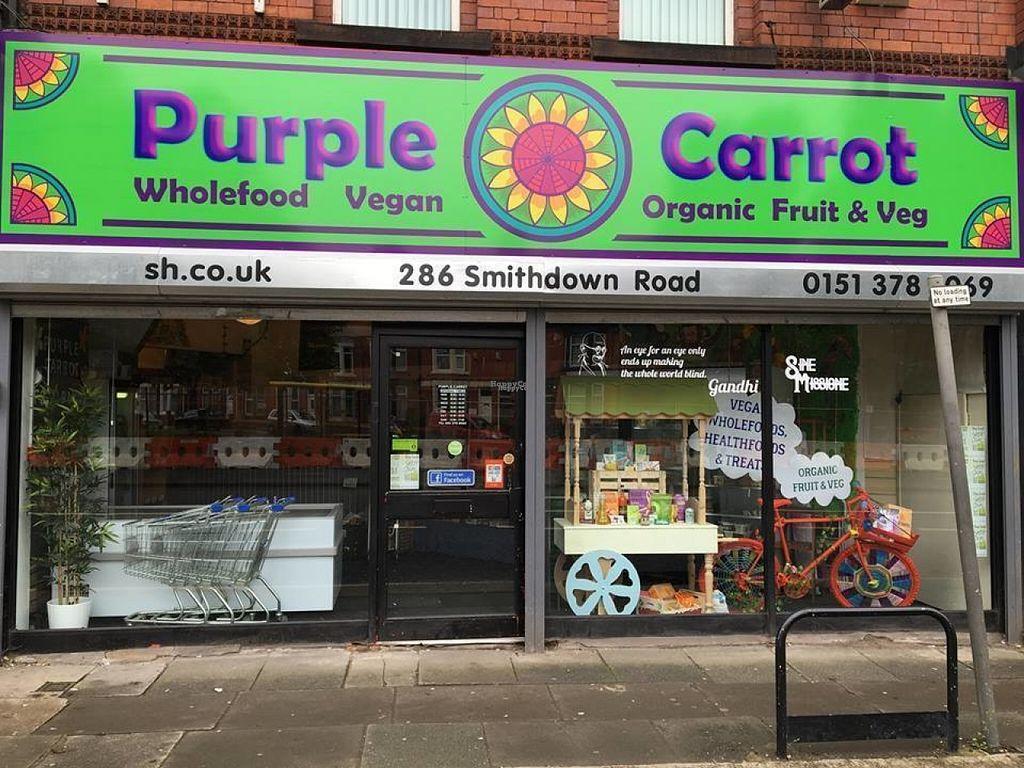 Purple Carrot Liverpool Veg Store Happycow