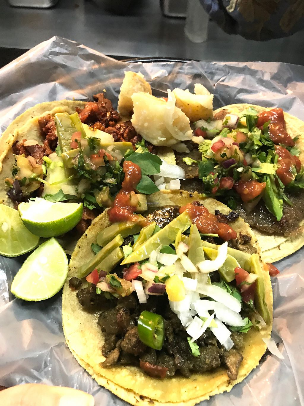 Vegan tacos with toppings! at Por Siempre Vegana Taqueria - Food Stall in  Mexico City 351871c0e5ee0