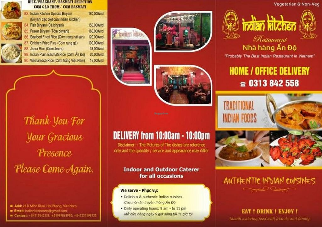 Indian Kitchen Hai Phong Restaurant Happycow