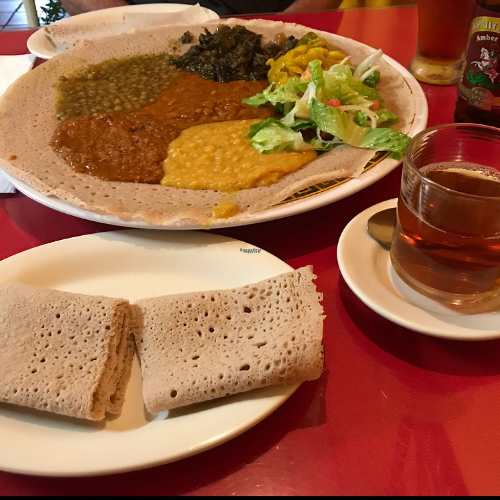Vegan Combo At Abyssinia Restaurant In Santa Rosa
