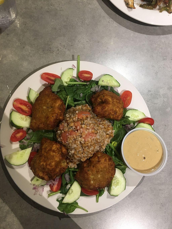 Vegan Ellen Salad Falafel At Sammy T S In Fredericksburg