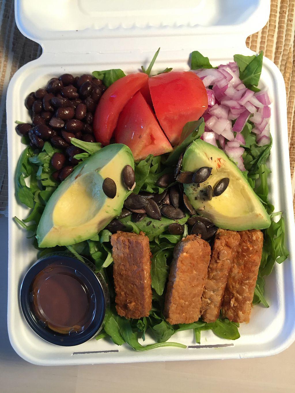 Arugula Tempeh Salad With Gypsy Sauce At Real Raw Organics In Ocean City
