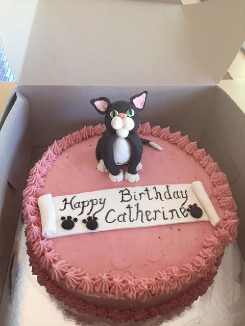 My Birthday Cake With Cat Design At OMV Bakery In Reservoir