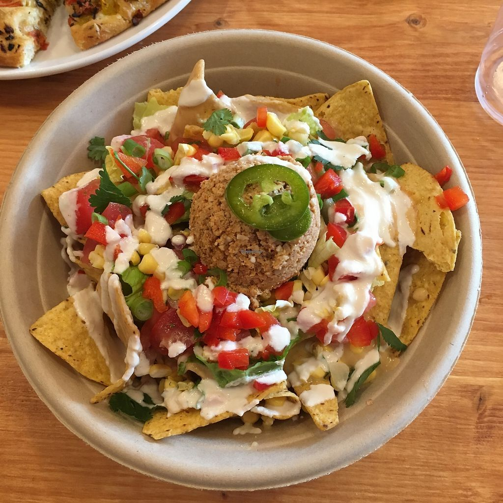 Nacho Bowl At Half Peach Bakery Cafe In Louisville Vegan