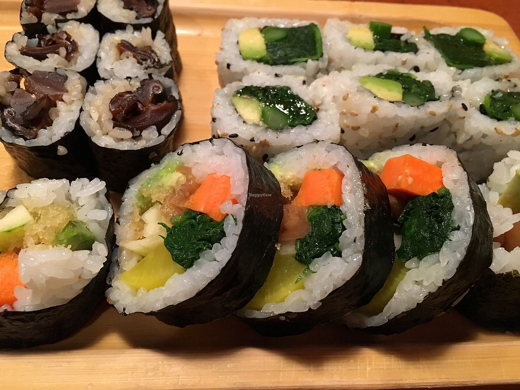 So Many Vegan Sushi Choices At Jin In Silver Spring