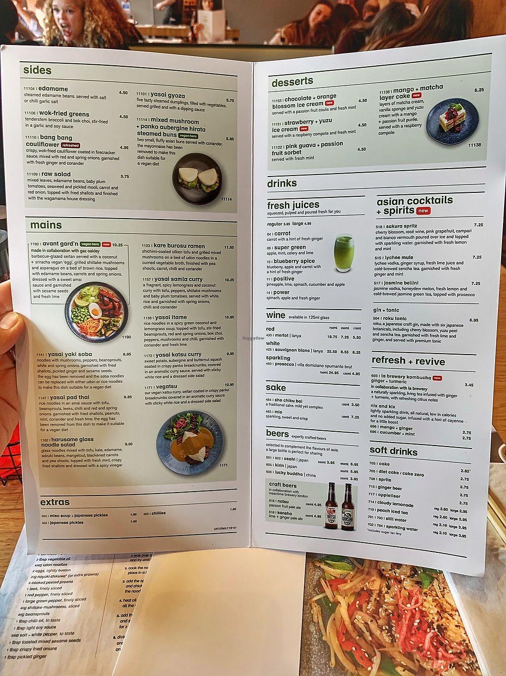 Wagamama menu