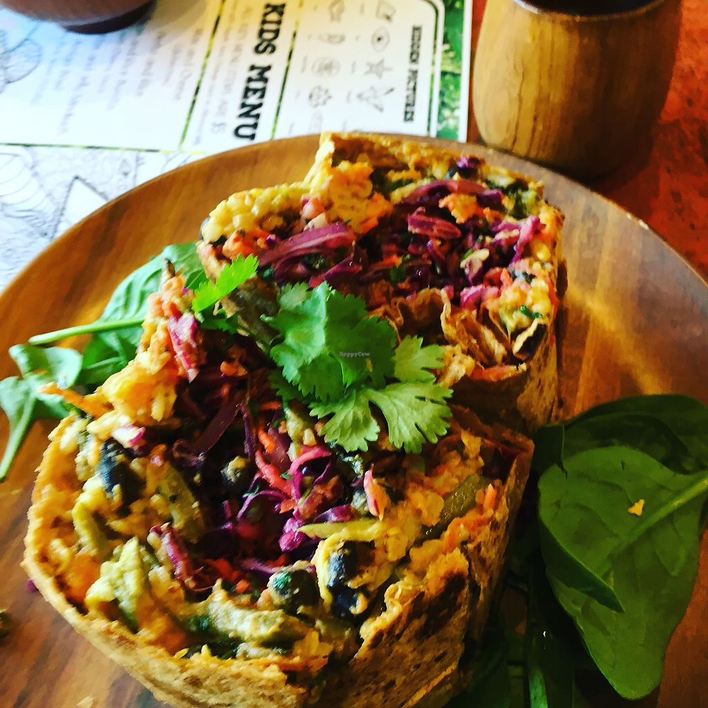 Super Veggie Burrito At Eve In Encinitas