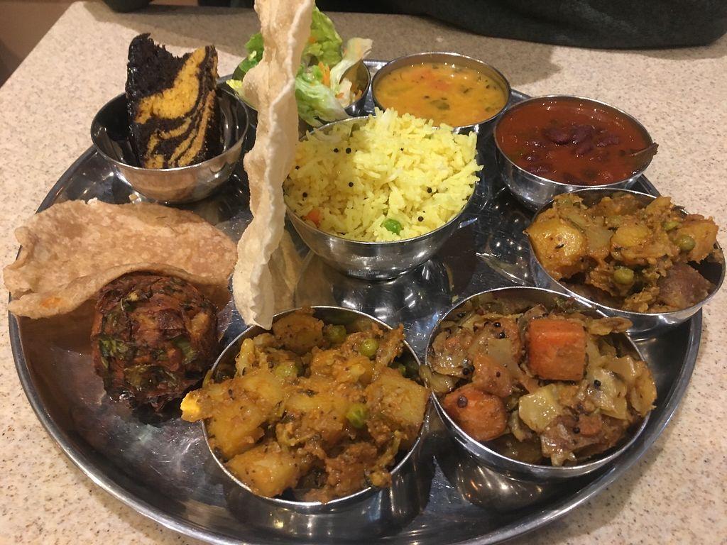 Vegan Thali At Govinda S Pure Vegetarian Restaurant In London