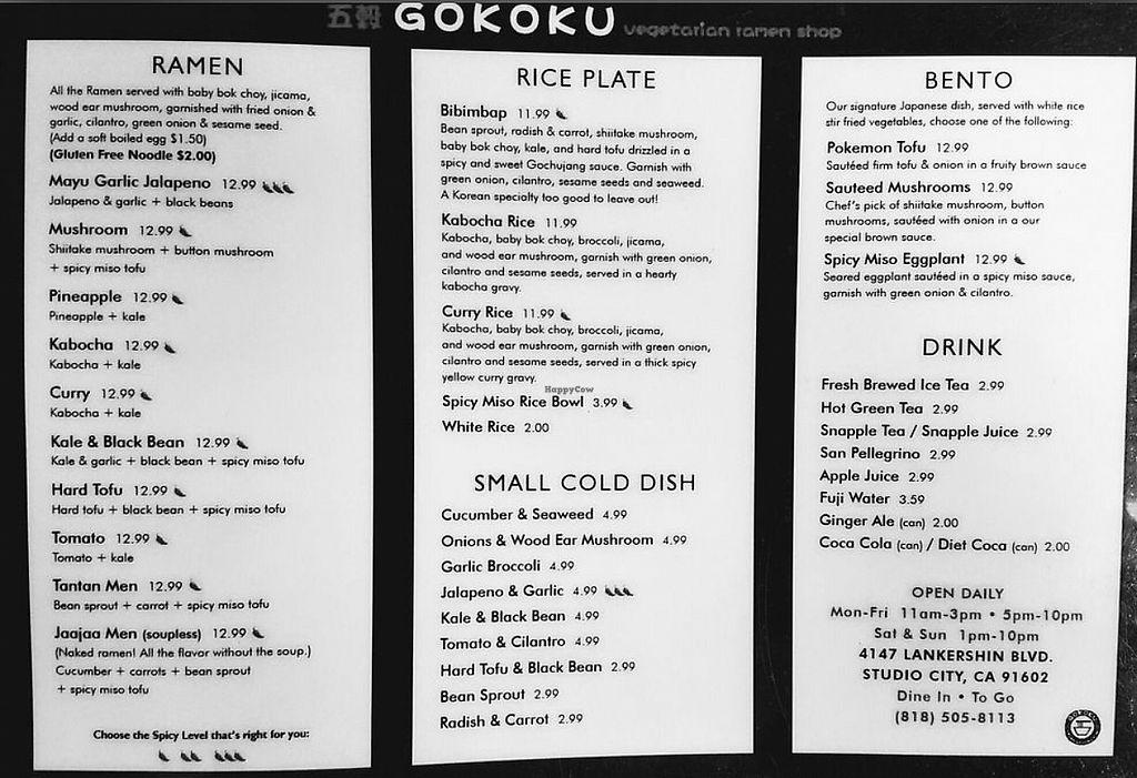 Gokoku Vegetarian Ramen Shop - Studio City California