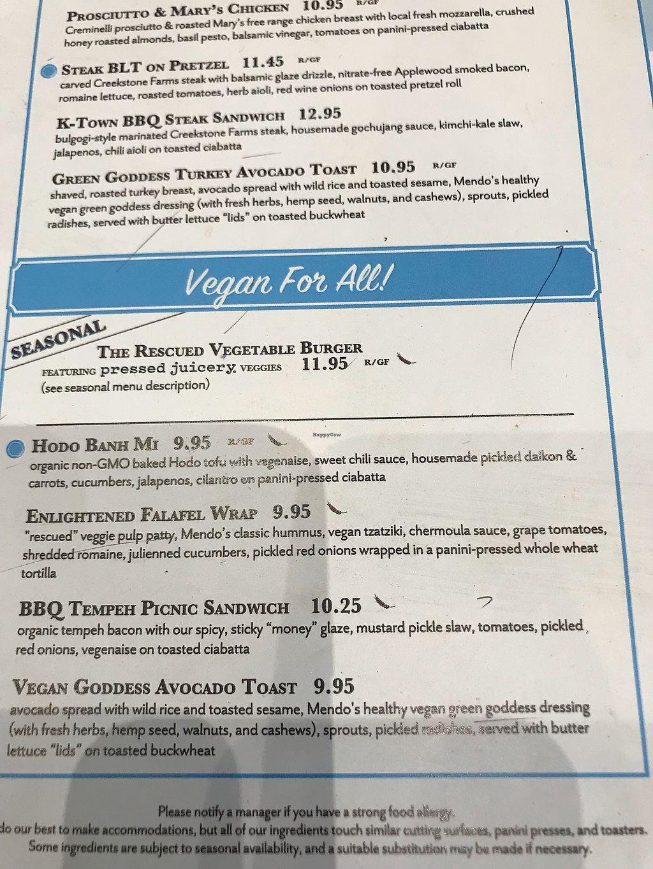 Mendocino Farms - Brea California Restaurant - HappyCow