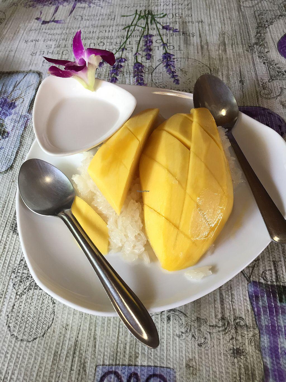 Mango sticky rice at jungle kitchen in ao nang