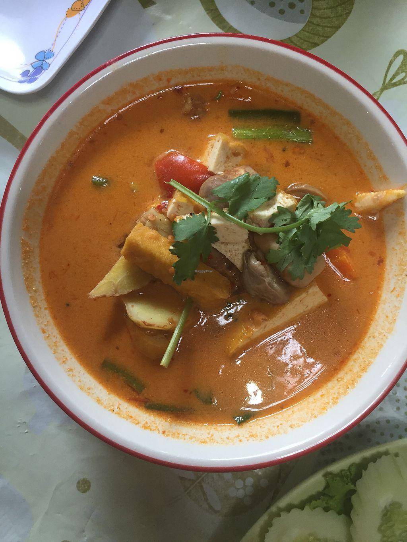 Tom yum soup at jungle kitchen in ao nang