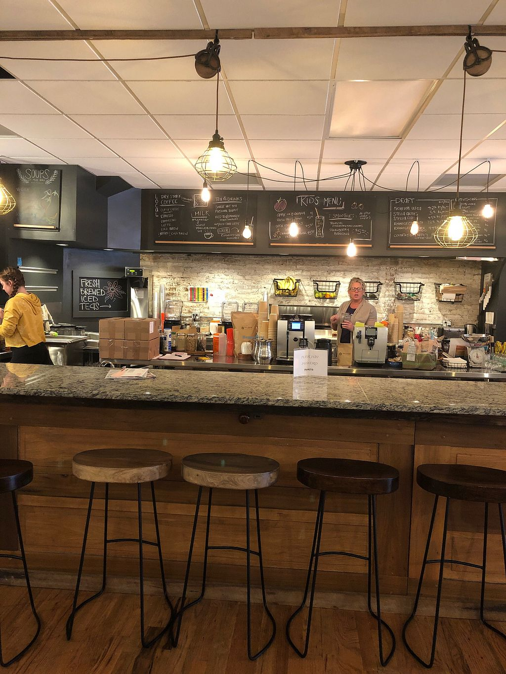Kitchen Bar Area At Plank On Main In Danville