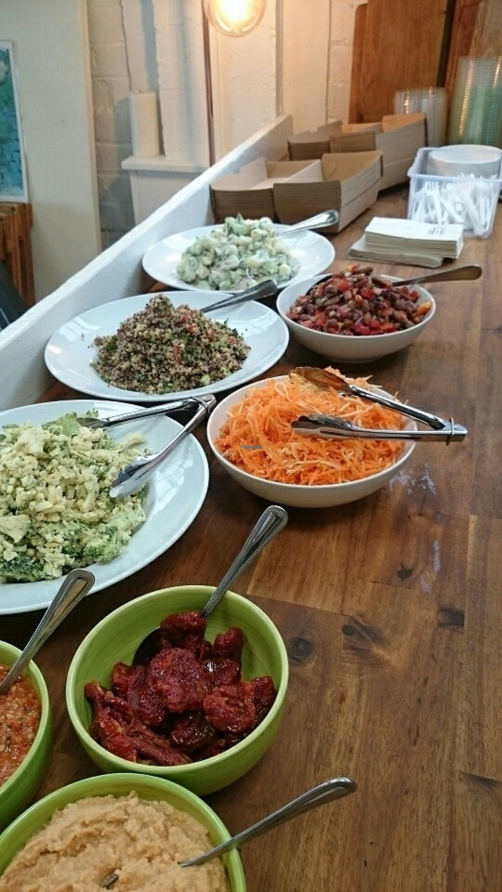 Yummy salads at the art kitchen in hastings