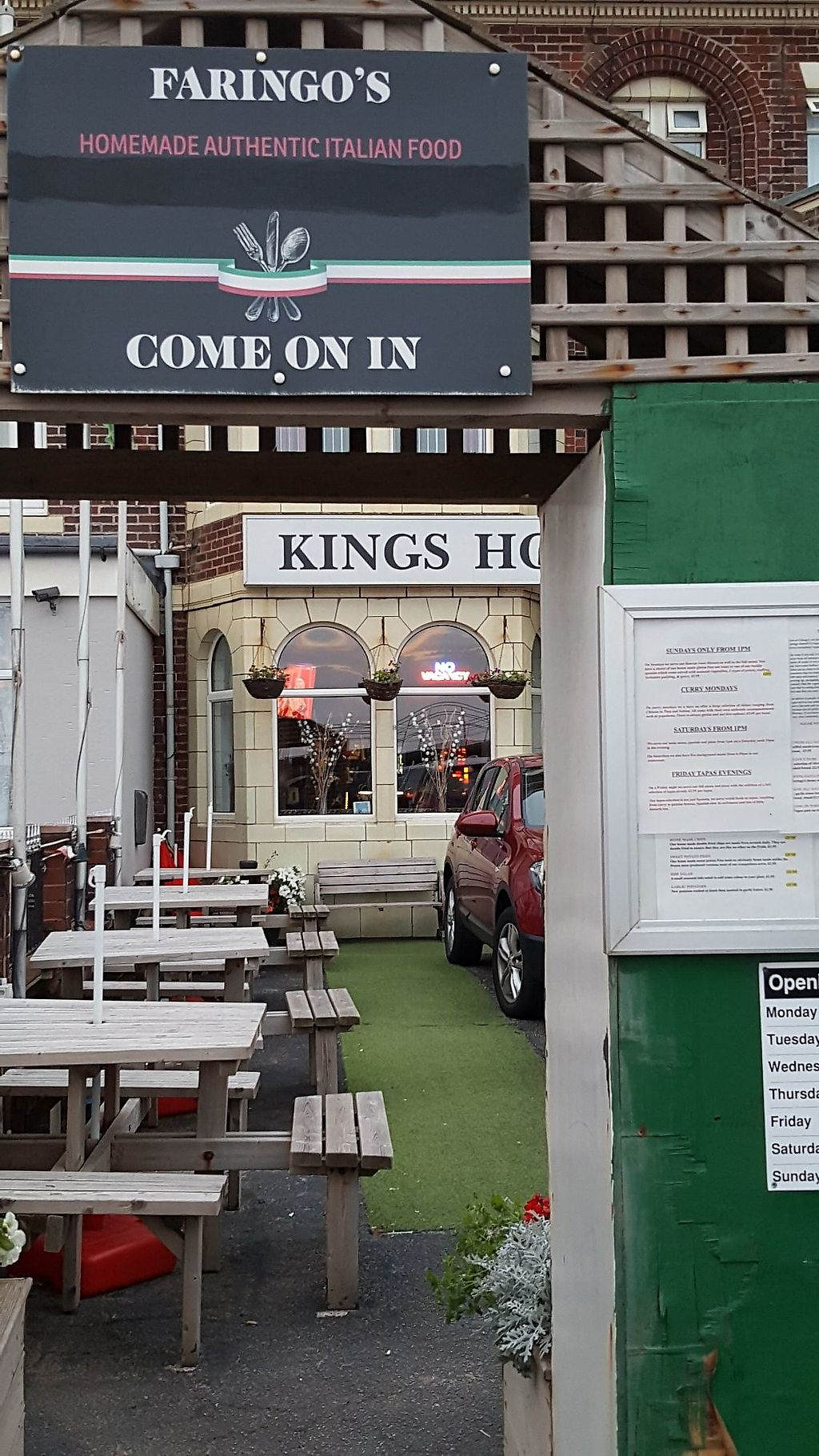 Closed Faringos Blackpool Restaurant Happycow