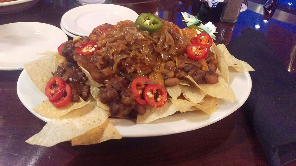 Vegan Nachos With Jackfruit At Cane Island Bar Grill In Katy