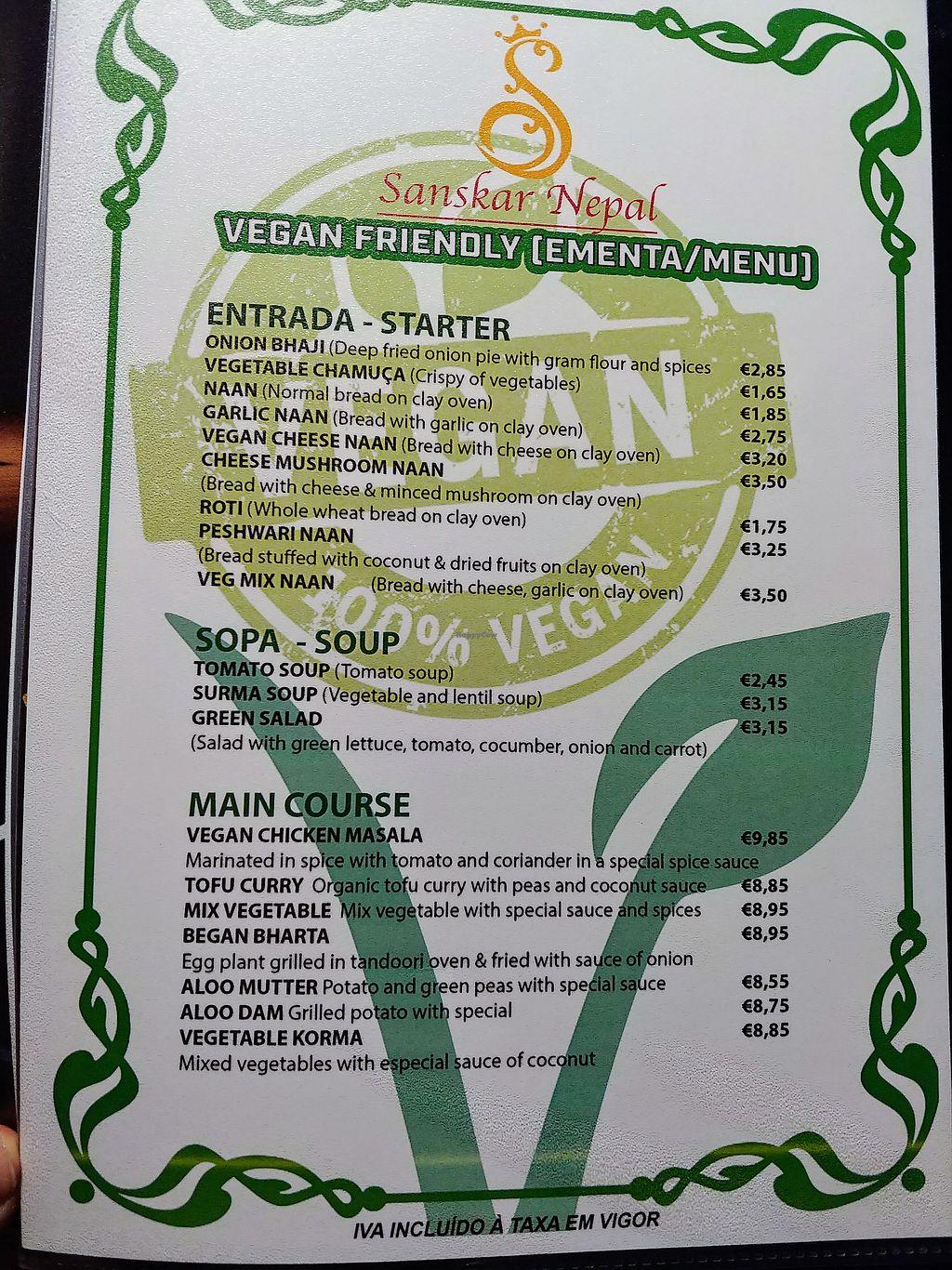 Sanskar Nepal - Lisbon Restaurant - HappyCow