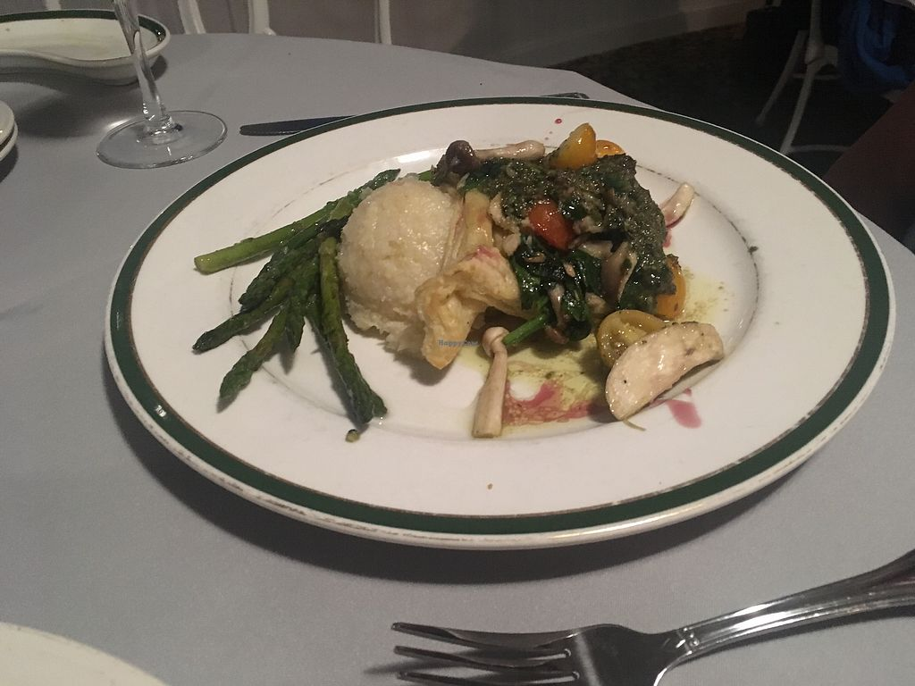 Vegan Meal In Puff Pastry Over Risotto With Wild Mushrooms At Aleathea S Restaurant Cape