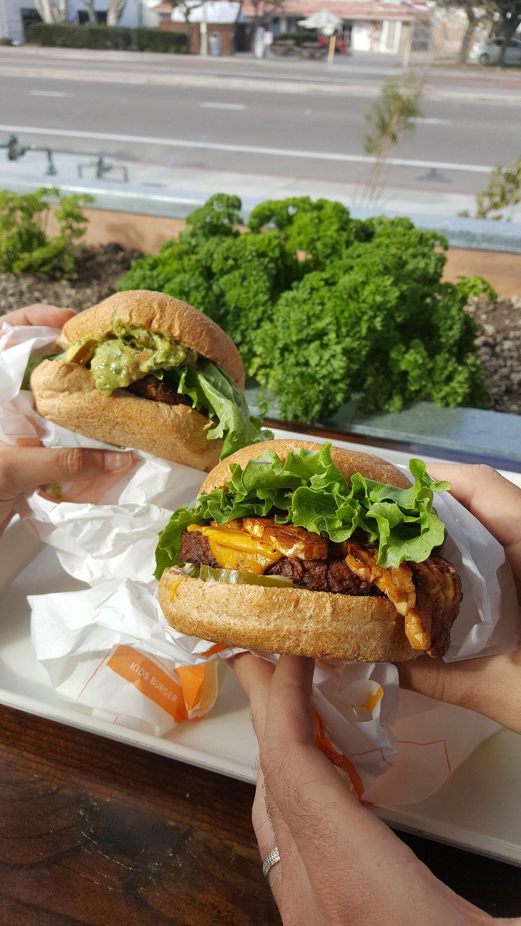 Vegan Beef Burger At Plant Fast Food In Encinitas