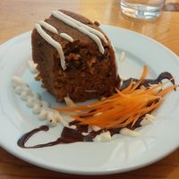 Carrot cake at Vertical Diner in Salt Lake City