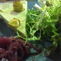 Leek Tart at West Six Garden Cafe in West London