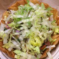 Taco salad bowl  at Qdoba in Rochester