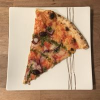"""""""Herb your Enthusiam"""" with vegan cheese at Yard Sale Pizza in East London"""