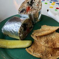 Mushroom Wrap at Midway Cafe and Coffee Bar in Islamorada