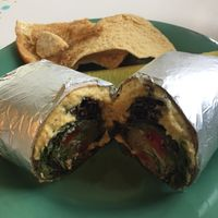 Hummus Wrap at Midway Cafe and Coffee Bar in Islamorada