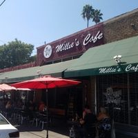 outside at Millie's Cafe in Los Angeles