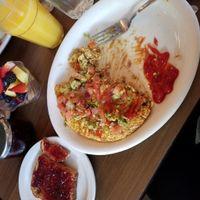 vegan angel, tofu Veggie sausage scramble ??? at Millie's Cafe in Los Angeles