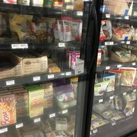 Some of the meat substitutes in the freezer section at Natural Living Center in Bangor